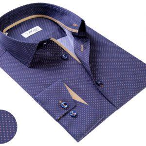 Vercini Shirt With Golden Pattern