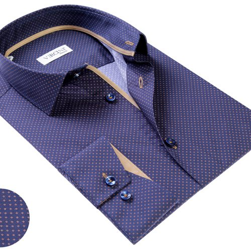 Vercini Shirt With Golden Pattern