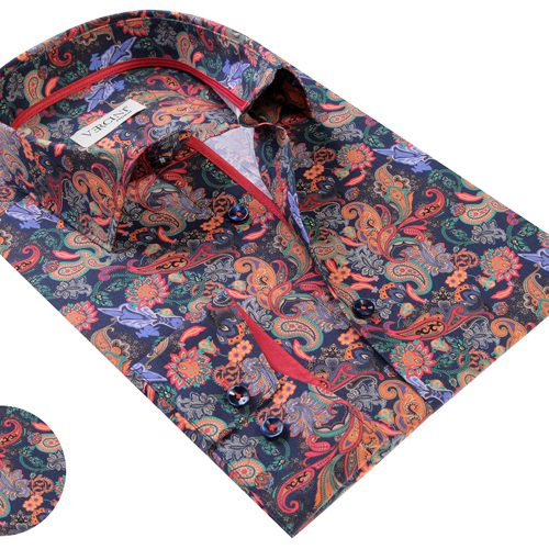 Vercini Paisley Pattern Multi Color