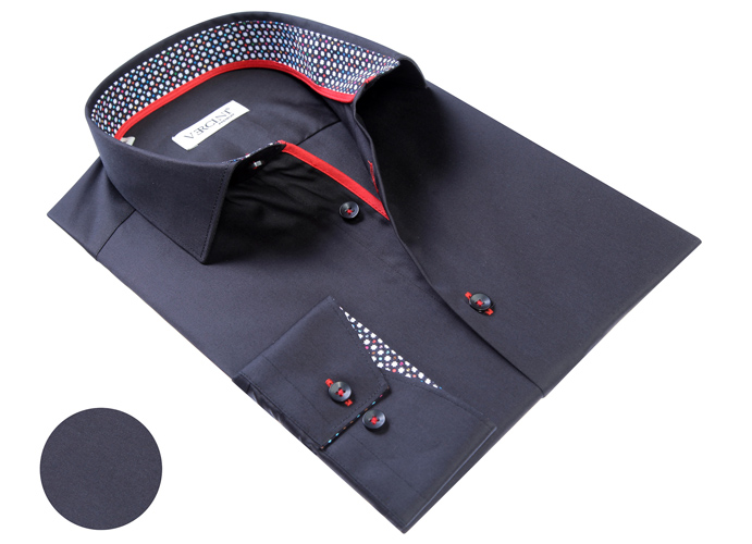 Vercini Black Shirt With Colorful Cuff