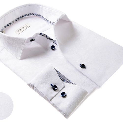 Vercini White Shirt With Subtle Texture