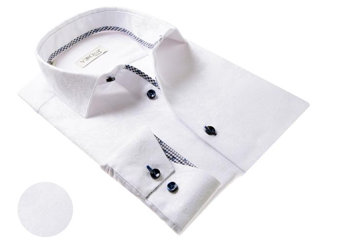 Vercini White Shirt With Subtle Texture
