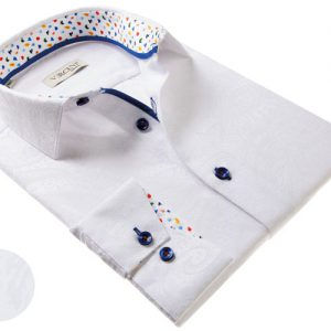 Vercini White Shirt With Soft pattern