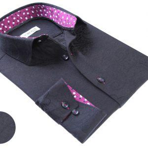 Vercini Black Shirt With Soft Texture