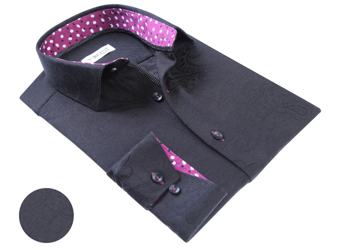 Vercini Black Shirt With Soft Texture