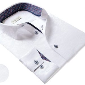 Vercini Shirt With Texture Pattern