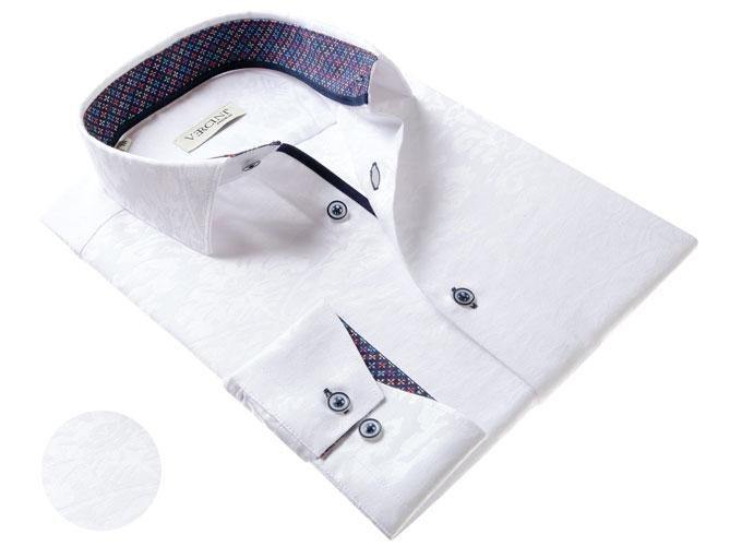 Vercini Shirt With Texture Pattern