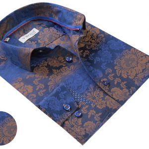 Vercini Navy With Golden Floral