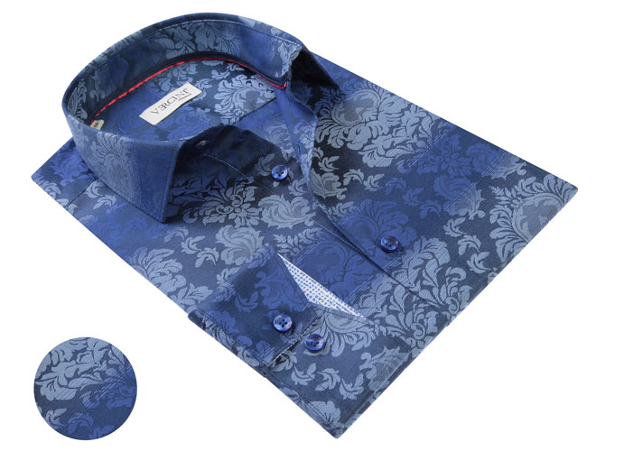 Vercini Blue With White Floral