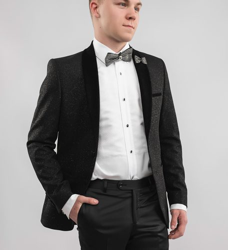 black-sparkling-tuxedo-hand-in-pocket