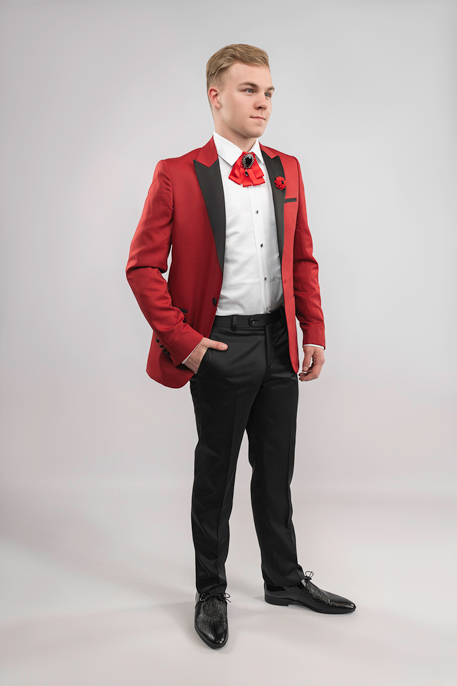 red-tux-hand-in-pocket