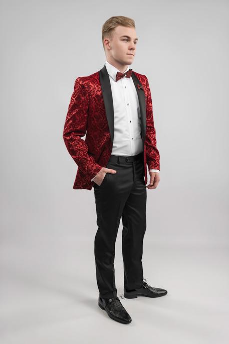 red-velvet-tuxedo-hand-in-pocket