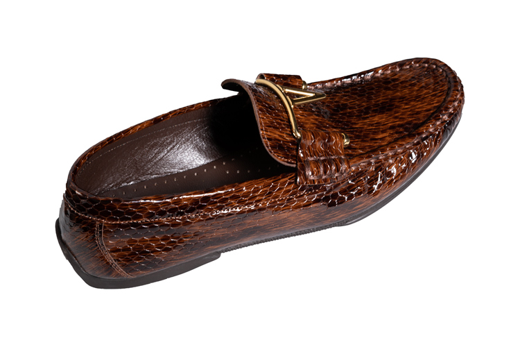 3470-siny-leather-brown-loafer-with-golden-V-main