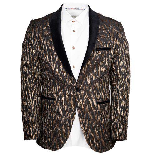 Black and gold tuxedo jacket
