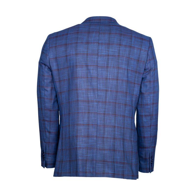 Blue blazer with a burgundy window pane-3