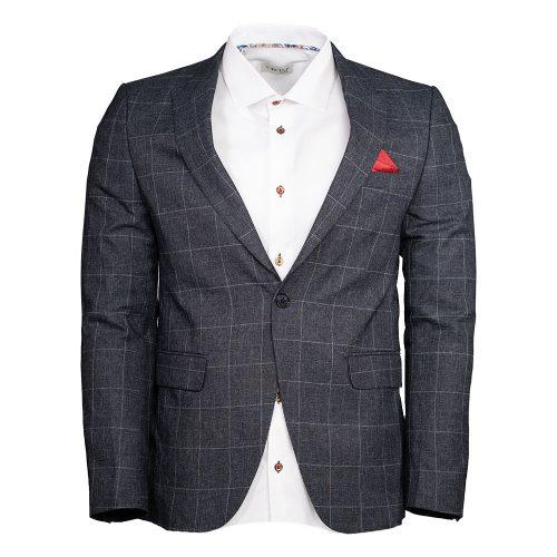 Gray blazer with a light gray window pane