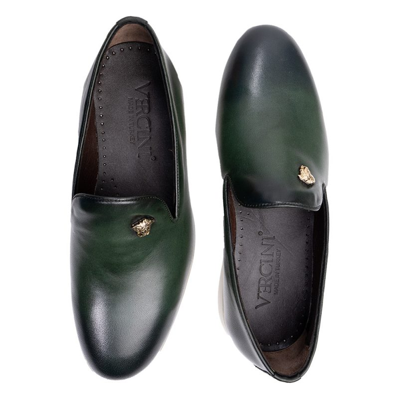 Green casual loafer