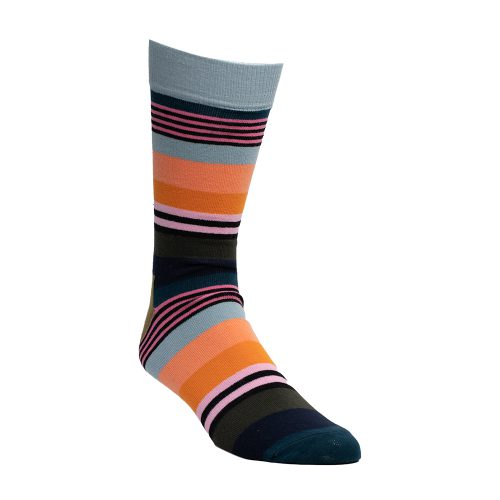 Green multi colored socks