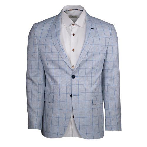 Light blue blazer with blue window pane blazer