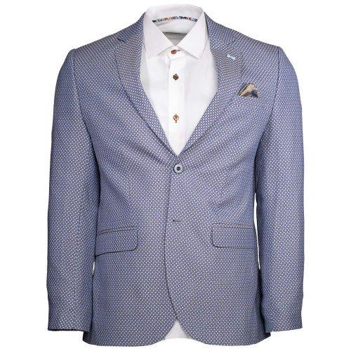 Light blue with brown pattern blazer