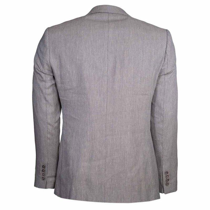 Light gray blazer back view