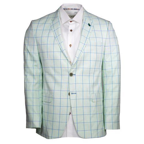 Light green mint color window pane blazer