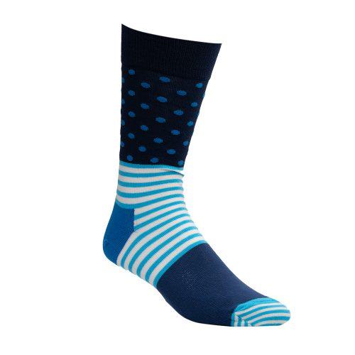 Navy and light blue socks-1
