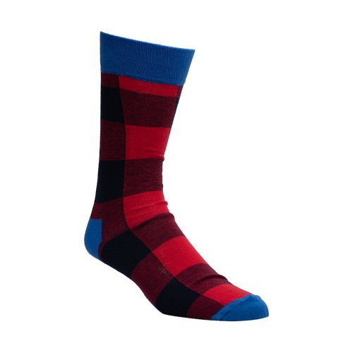 Red and blue socks