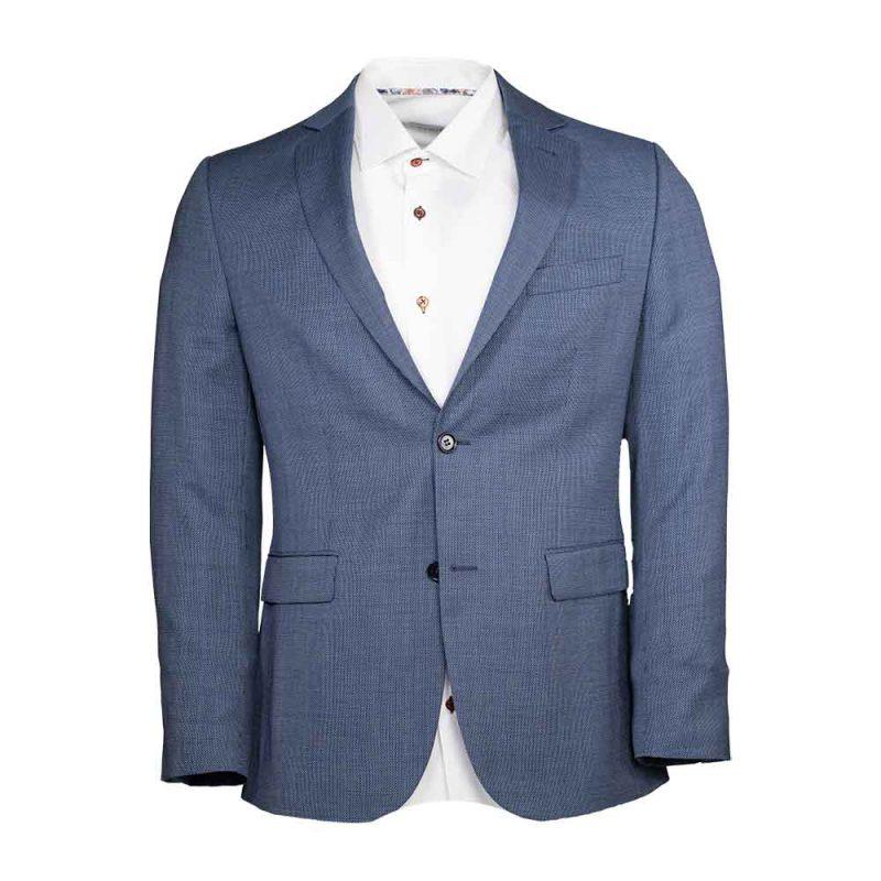 light blue slim flit blazer