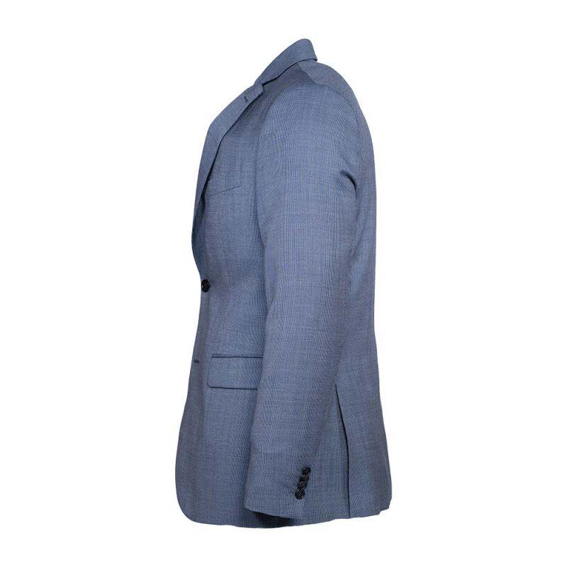 light blue slim flit blazer side view