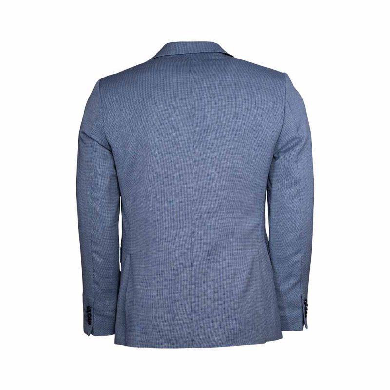 light blue slim flit blazer back view