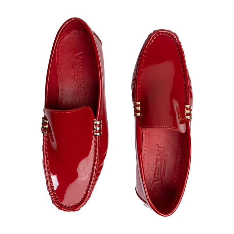 red patent leather driving shoes mens moccasin