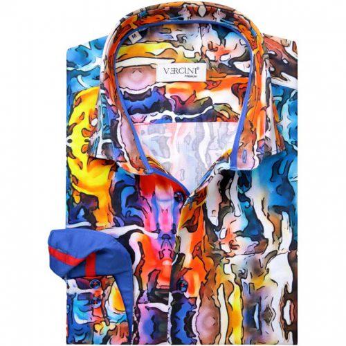 Watercolor Design Dress Shirt