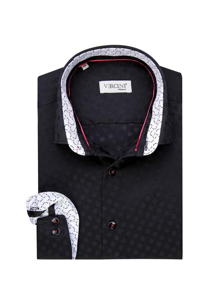 Black dotted shirt
