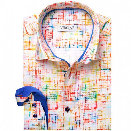 Light shirt with a mix of colors