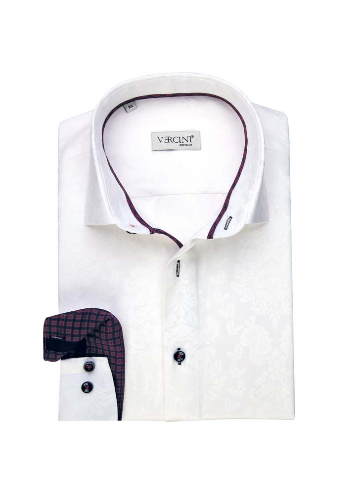 White shirt with a subtle design